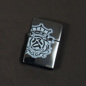 オリジナルZIPPO 王冠大 ミラーブラック