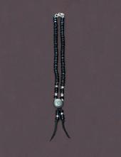 ビーズネックレス 黒 40cm
