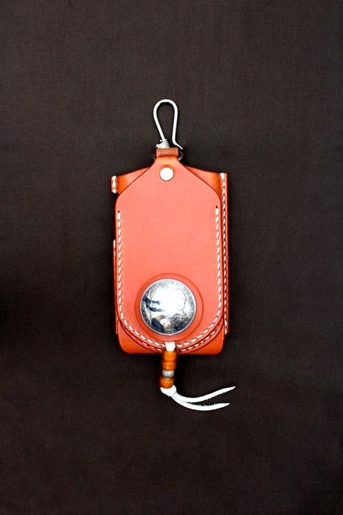 iPhone4 アイフォン4 革 ケース モルガン オレンジ