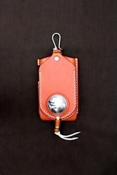 iPhone3G アイフォン3G ケース 革 モルガン オレンジ
