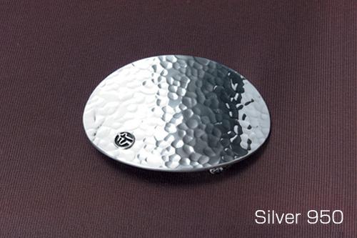 シルバー925 バックル オーバルタタキ